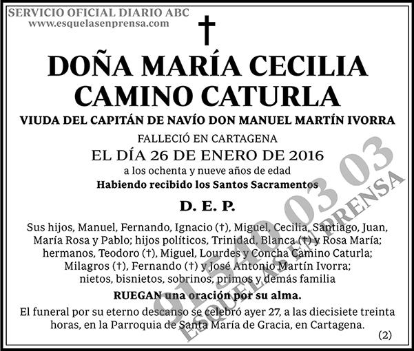 María Cecilia Camino Caturla